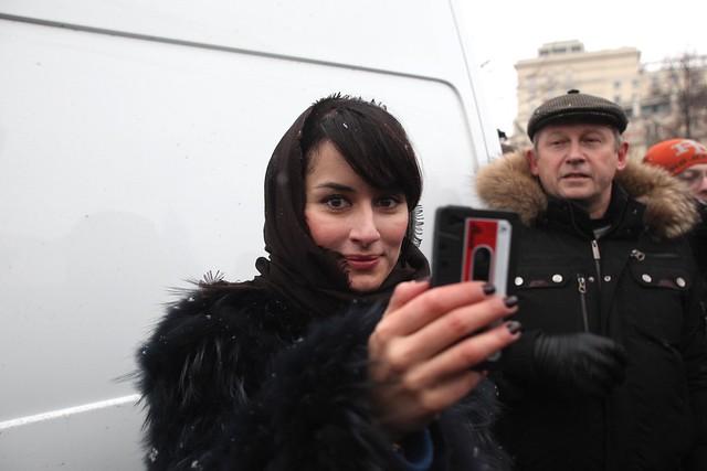 Тина Канделаки снимает на iPhone