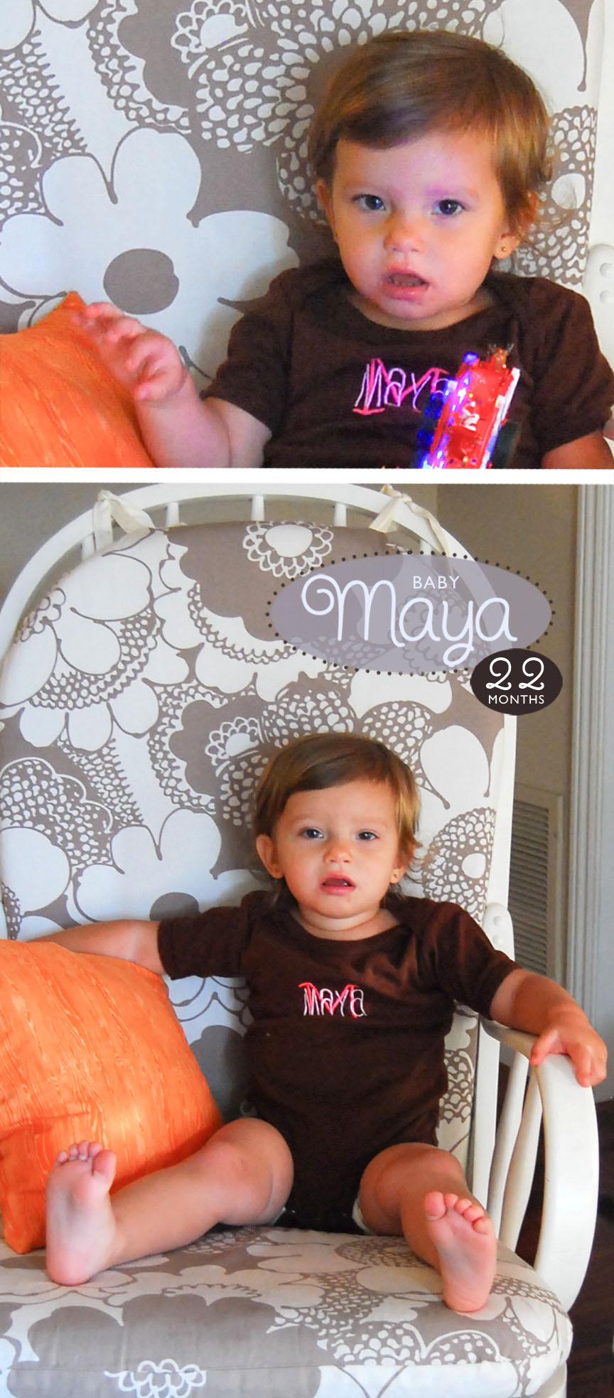 Maya is 22 Months