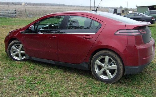 Off road at the farm in the Volt