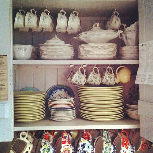 morning chore of putting the dishes away :: satisfying small pleasure