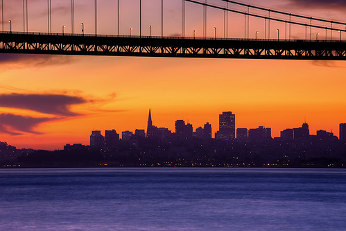 San Francisco Skyline Sunrise