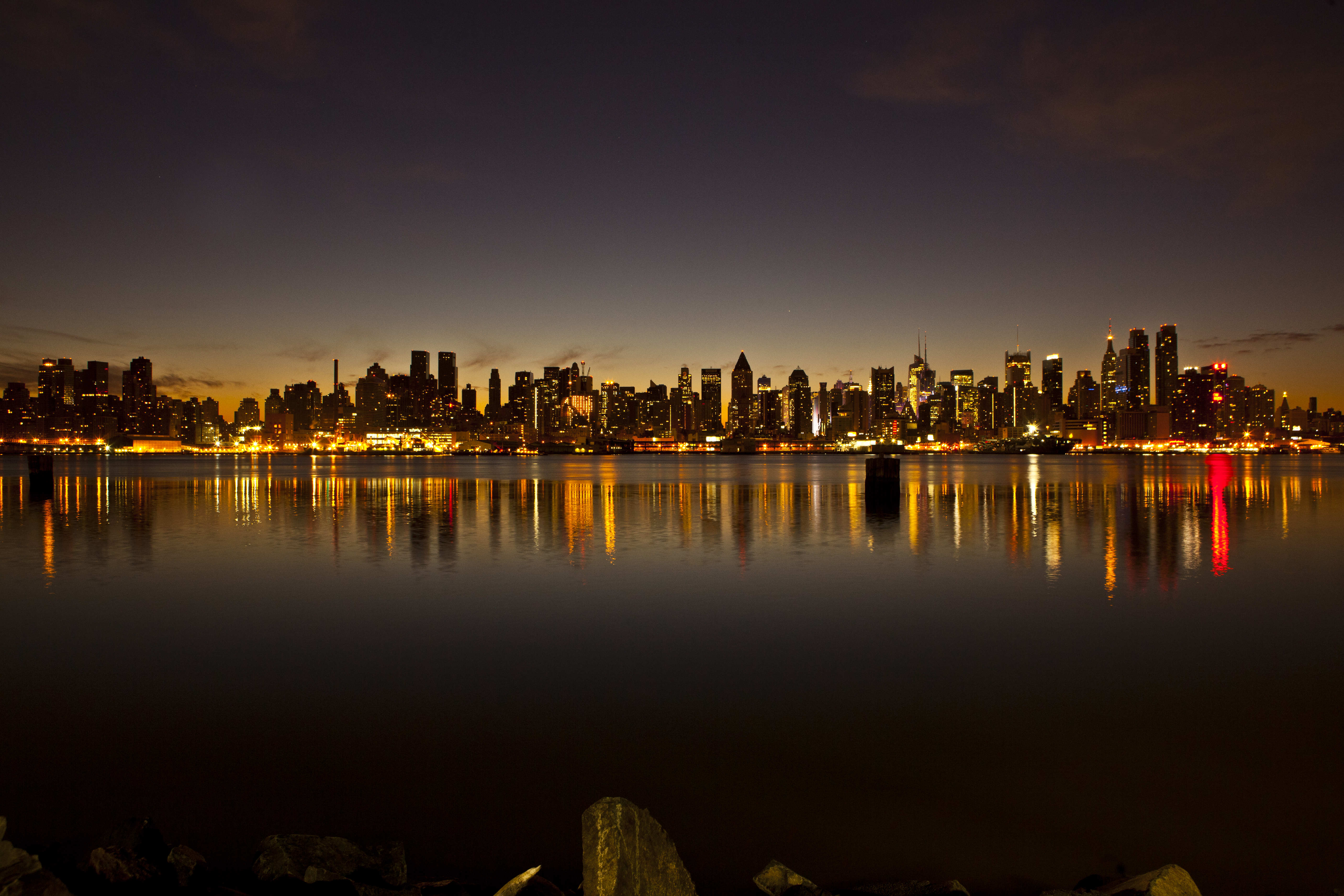 the new york city skyline just before sunrise december 17 2011 flickr photo sharing. Black Bedroom Furniture Sets. Home Design Ideas