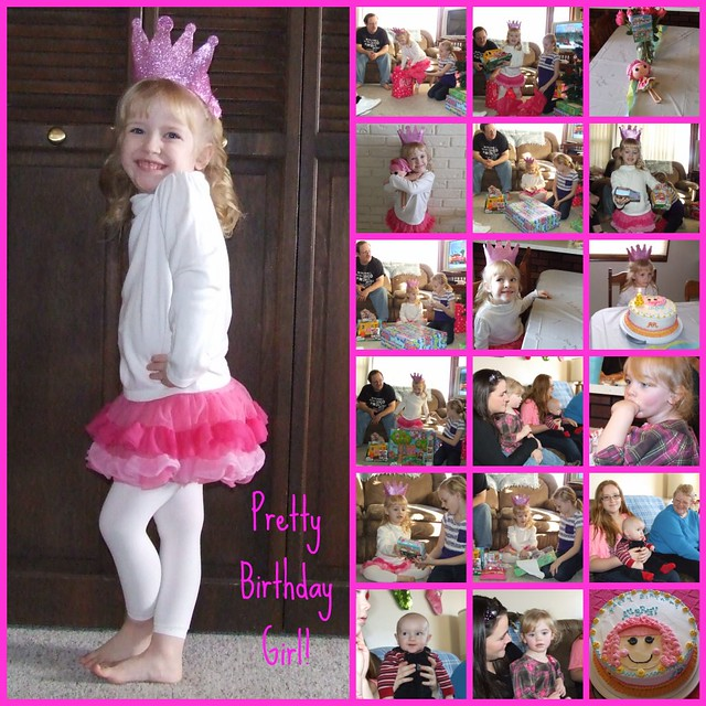 4th birthday party collage