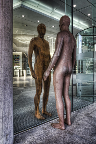 Refelction by Anthony Gormley, 350 Euston Road, London by Iain McLauchlan