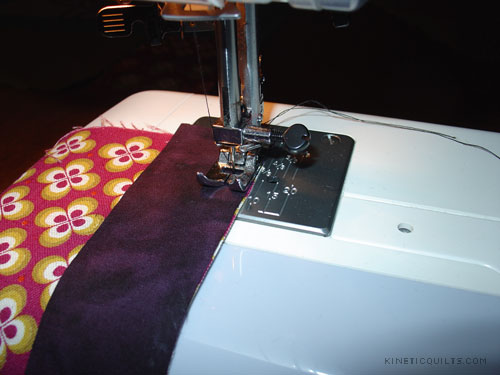 Body Pillow - sewing a batik to Ruby Star