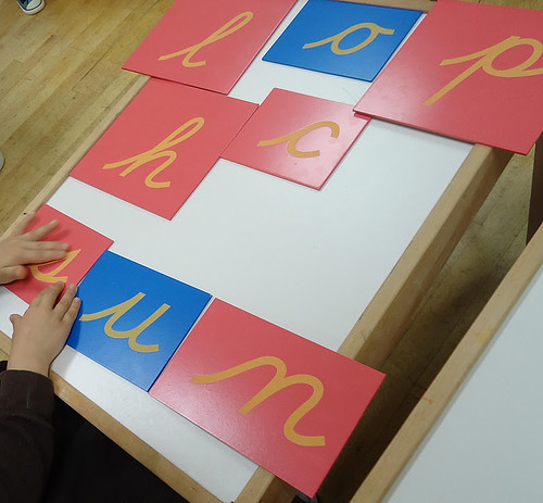 Montessori-School-Quality Sandpaper Letters (Photo from To the Lesson ...