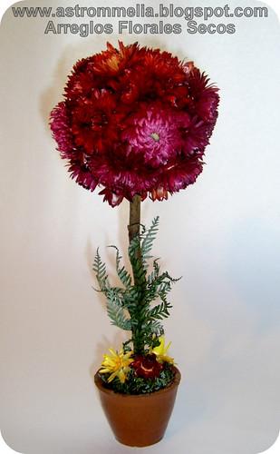Astrommelia topiario 3 flores secas - Arreglos florales con flores secas ...