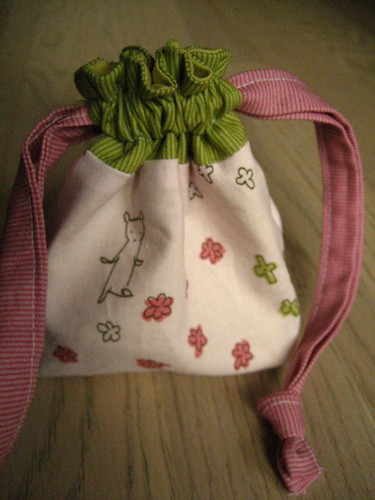 tiny drawstring bag bear