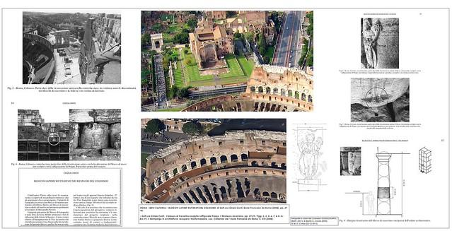 ROMA - BENI CULTURALI - BLOCCHI LAPIDEI RIUTIZZATI DEL COLOSSEO. Di Dott.ssa Cinzia Conti, Ecole Francaise de Roma (2008), pp. 27-40.