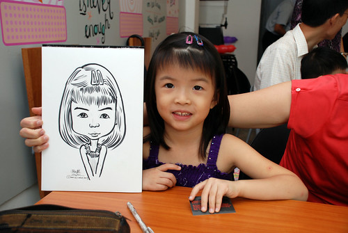 caricature live sketching for birthday party 2nd Oct 2011 - 7