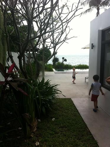 Scott and Elaine at our villa on Koh Samui