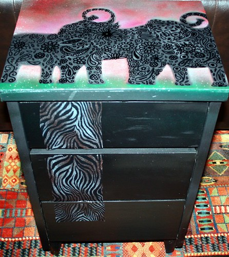 Safari Theme Small Chest / Dresser by Rick Cheadle Art and Designs