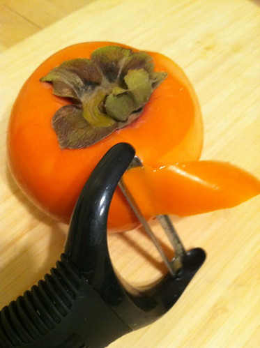 Persimmon - take the skin off with a tomato peeler