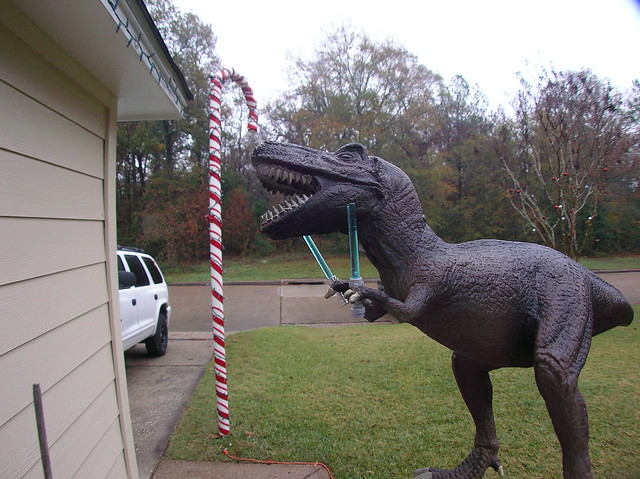 T-Rex with Light-saber