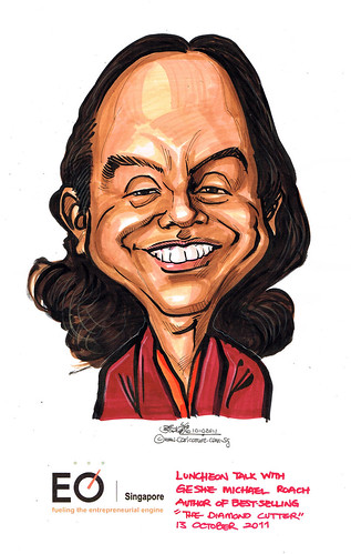 Caricature for EO Singapore - Geshe Michael Roach