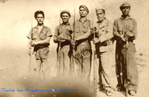 Milicianos porcunenses en el frente Madrid, 1937