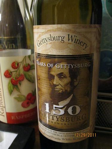 """12/29/11: """"Tears of Gettysburg"""" white"""