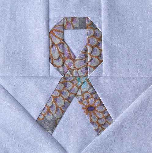 Lavender Ribbon quilt block