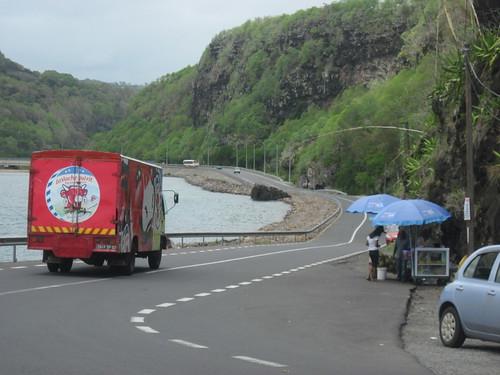 Roadside Vendors and Bike Route