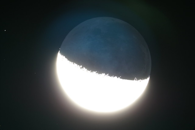 Straight from camera earthshine