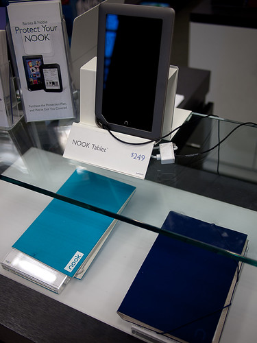 A Nook Tablet on Display