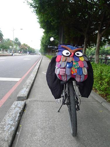 往土城方向的中和圓通路自行車道