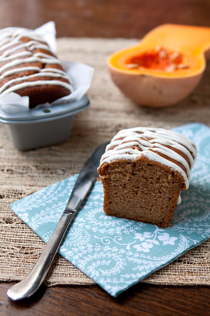 Butternut Squash Cakes with Maple-Cream Cheese Glaze