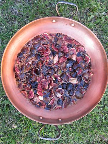 confiture de figues en préparation