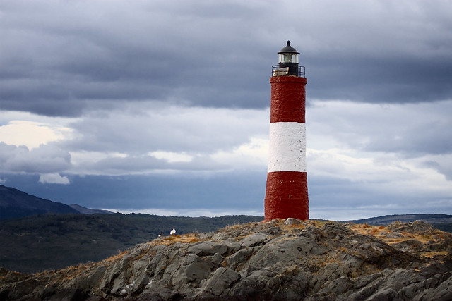 Lighthouse Beagle Channel—Faro Les Éclaireurs