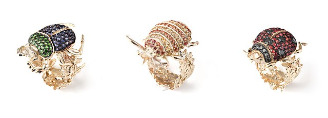 Coccinelles rubies - Saphirs A-1036-3-10 A-1036-2-10 A-1036-1-10