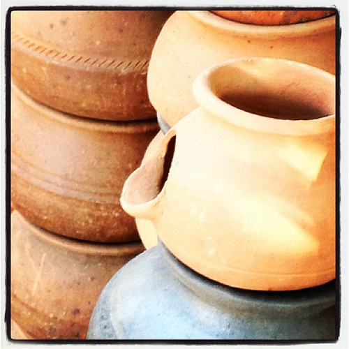 Pots in Bangalore, India by sindhusn