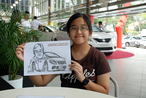 Caricature live sketching for Tan Chong Nissan Almera Soft Launch - Day 1 - 25
