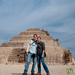 Dan & Audrey at Saqqara Pyramid - Cairo, Egypt