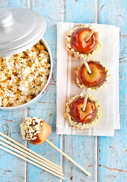 Salted Caramel Apples with Popcorn | Flickr - Photo Sharing!