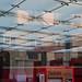 Spiegelungen im Baldachin Glasdach