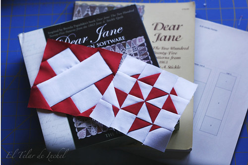 Red and white Dear Jane