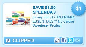 Splenda Essentials Coupon