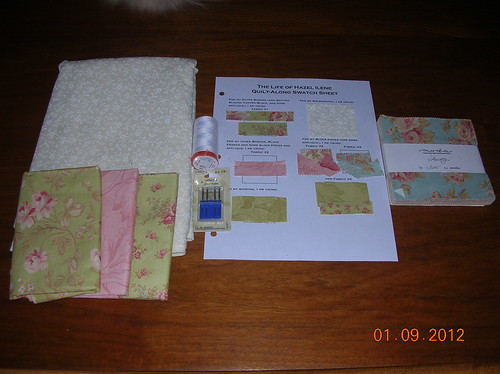 supplies for Hazel Ilene quilt-along