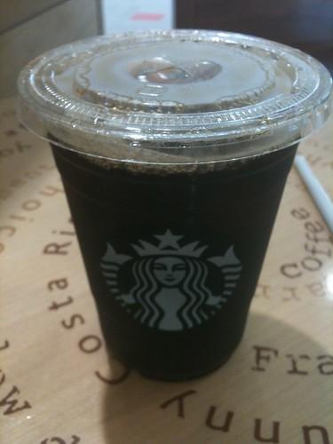 スタバでアイスコーヒー