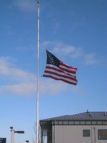 Flag at half mast for Mt. Rainier ranger