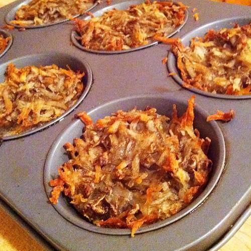 Individual baked hash browns