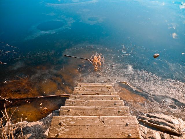 Trappan ned i vattnet