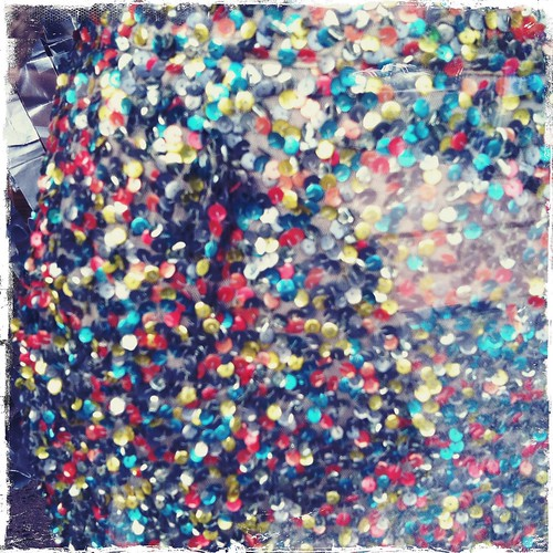 macro photo of a sequin dress