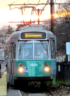 boston allston green line approaching