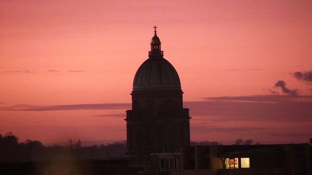 west register house, sunset silhouette