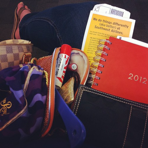 {Day 13: What's in your bag?} Nope. I do not travel with Crown Royal...that would be my camera #janphotoaday #catchup