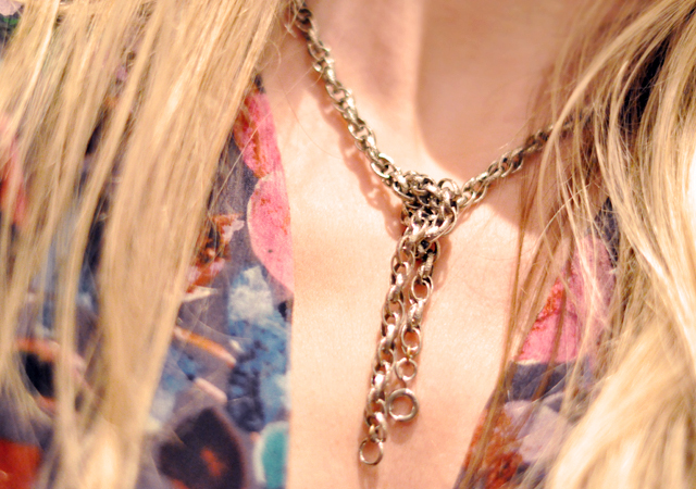 knotted chain necklace- hair