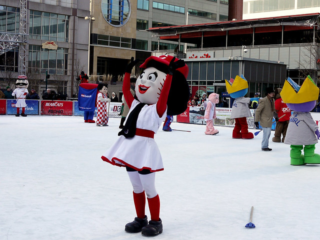 MASCOT BROOMBALL GAME
