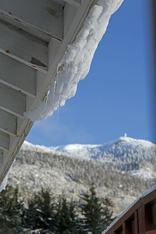 icicles and Kasaan Mountain, Kasaan, Alaska