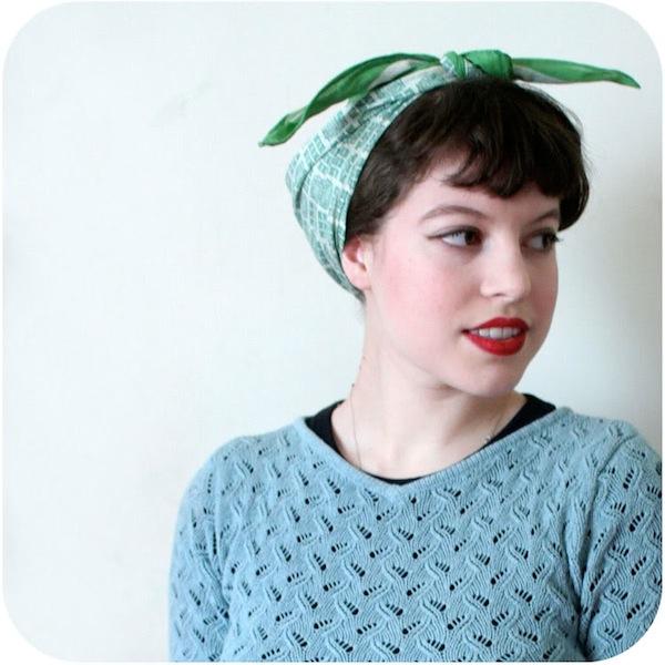 40s hair scarf Vixen Vintage